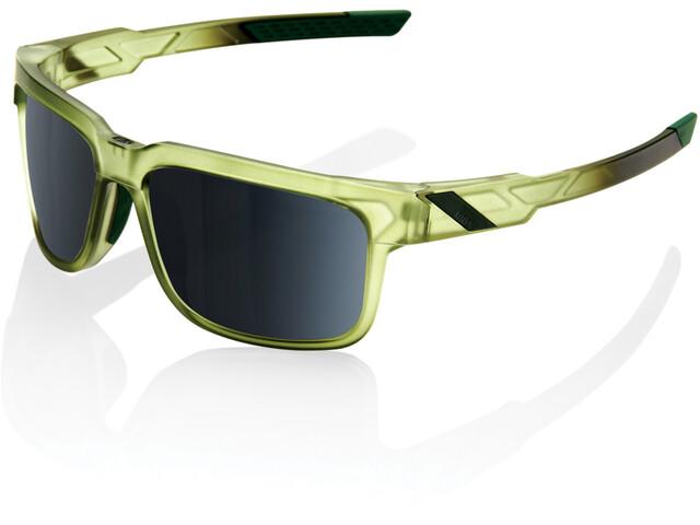 100% Type S Occhiali, matte translucent olive slate/black mirror